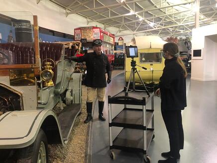 Filming the virtual tours of the museum