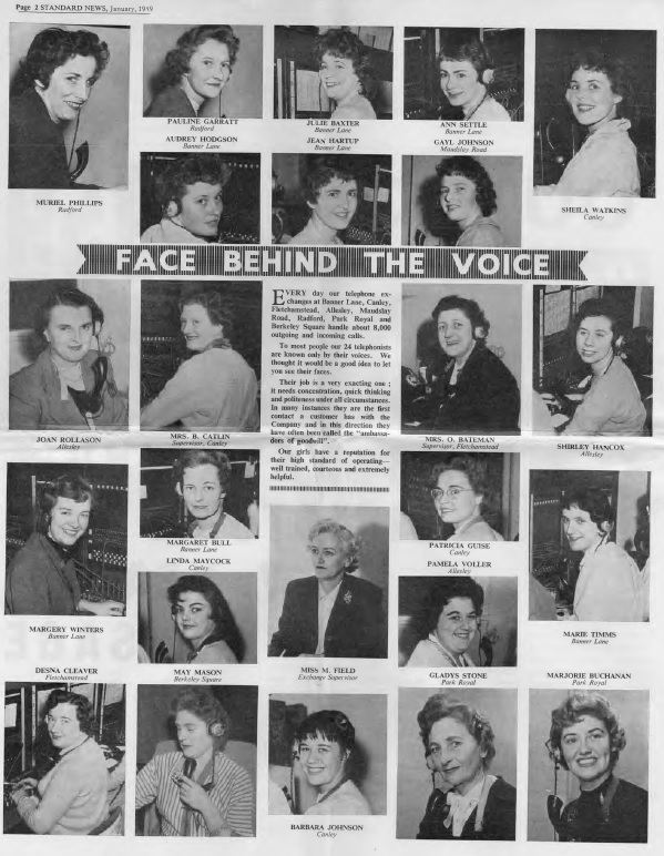 Face behind the voice Standard News issue 12 1959 page 2