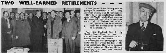 Retirements Standard News issue 13 1959 page 2