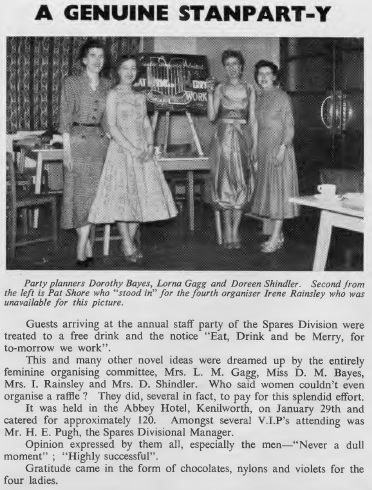 Spares division party Standard News issue 1 1958 page 4