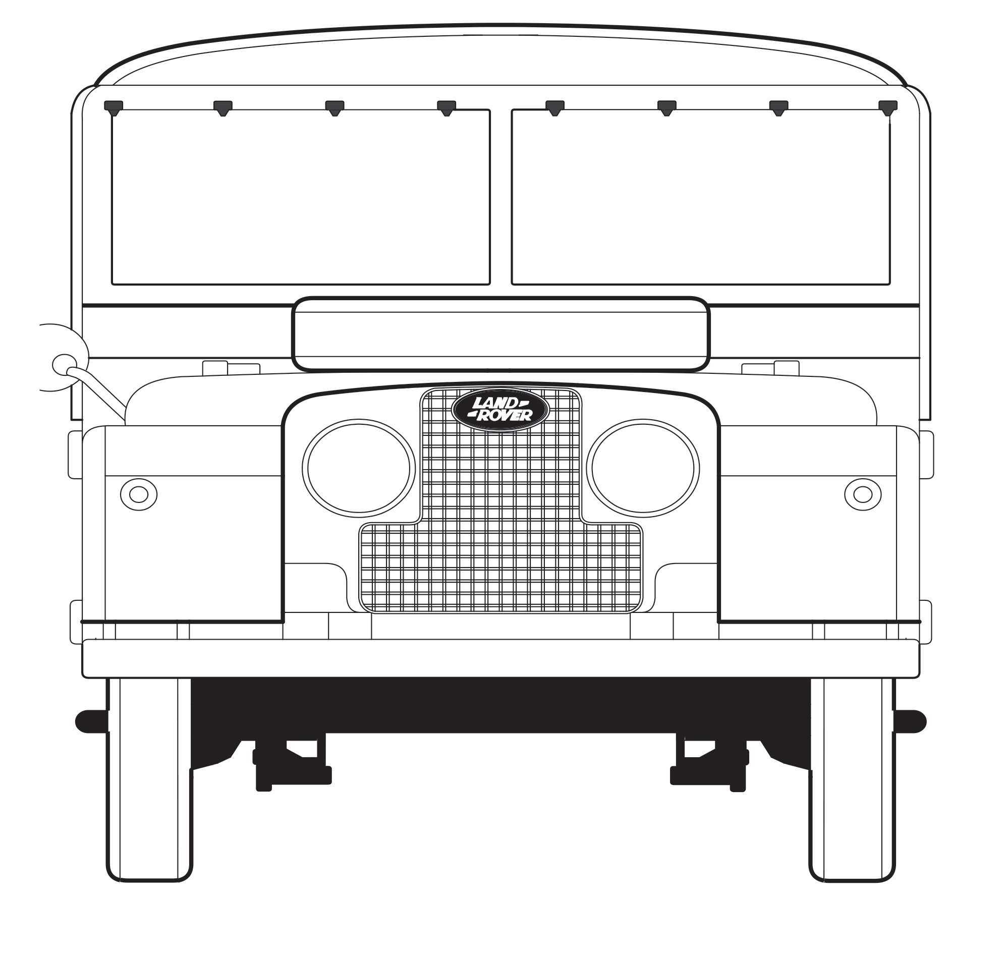 Land Rover Fathers Day Card